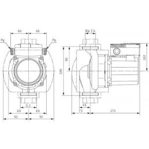 Cirkulationspump Wilo TOP-S 30/10 1 Fas Molex